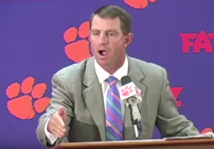"""This Reporter Made The Mistake Of Asking Dabo Swinney About """"Clemsoning"""""""