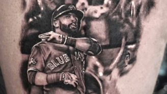 Someone Already Got A Tattoo Of Jose Bautista's Epic Bat Flip