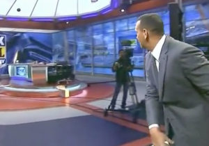 A-Rod Accidentally Destroyed A TV On His 'FOX NFL Sunday' Debut