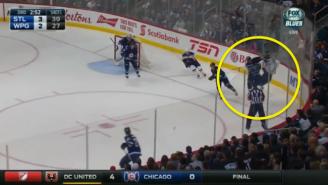 Watch Dustin Byfuglien's Crushing Hit Spark A Heated Scrum In Winnipeg
