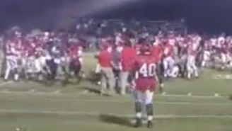 This Junior College Game Got Called Before Halftime Because Of A Gigantic Brawl