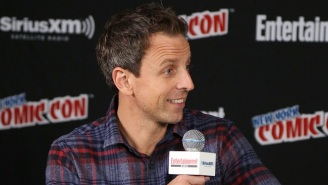 Seth Meyers Once Walked In On Mike Shoemaker Wearing Nothing But An Optimus Prime Mask