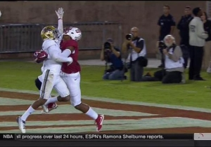 Watch Stanford's Francis Owusu Snag The Catch Of The Year Against UCLA