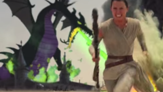 74 days until Star Wars: Disney magic invades in 'The Force Awakens' mash-up