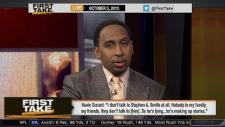Watch As Stephen A. Smith Threatens Kevin Durant: 'You Don't Want To Make An Enemy Out Of Me'