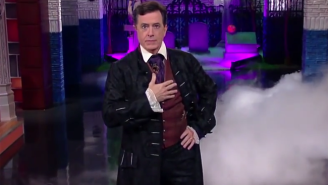 Stephen Colbert Played A Sexy Teenage Vampire During His Special Halloween 'Late Show'