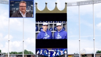 The Kansas City Royals Pumped Up Eric Stonestreet For His Appearance On 'Jimmy Kimmel Live'