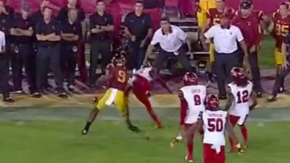This Nasty Stiff Arm Was Possibly The Best Part Of USC's Upset Victory Over Utah