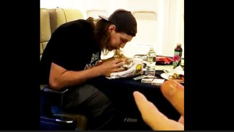 Here's Kelly Olynyk Attempting To Eat A Burrito In Four Bites As Amir Johnson Narrates