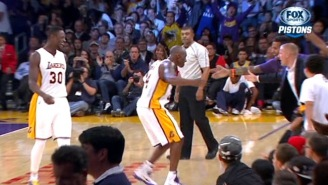 Kobe Bryant Salutes The French Train Heroes With High-Fives After A Big 3-Pointer Late