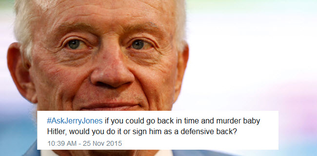 Jerry Jones hashtag