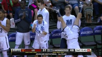Is This The Best Bench Celebration In College Basketball History?