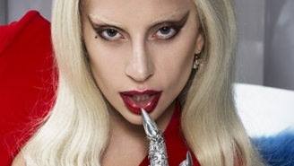 You won't believe what Lady Gaga handed Ryan Murphy the first day of shooting 'AHS: Hotel'