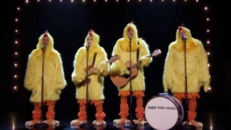 Watch Alanis Morissette And Meghan Trainor Cover 'Ironic' Dressed As Chickens