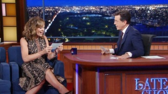 Allison Janney And Stephen Colbert Covered Foreigner's 'Hot Blooded' In Dramatic Fashion