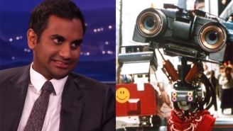 Aziz Ansari Finally Buries The Hatchet With Johnny Five From 'Short Circuit'