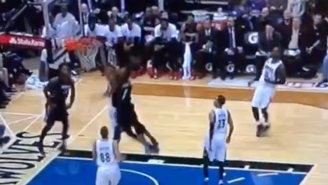 Chris Bosh Shows Gorgui Dieng What Happens When You Stand In His Way On The Break