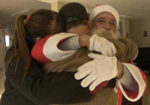 A Homeless Santa Claus Receives His Christmas Present Extra Early