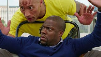 Watch The Rock And Kevin Hart Jump Out Of A Building In The First Trailer For 'Central Intelligence'