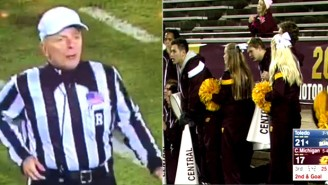 Why Did This Ref Call Out The Central Michigan Cheerleaders For… Cheering?