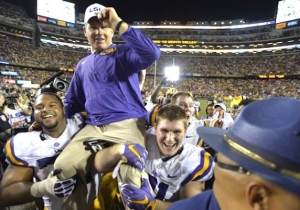 Les Miles Managed To Save His Job With A Big Win Over Texas A&M