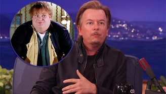 David Spade Looks Back On Chris Farley's 'Fat Guy In A Little Coat' With Conan