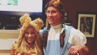 This Guy Deserves 'Husband Of The Year' After Surprising His Wife With The Perfect Halloween Couples Costume