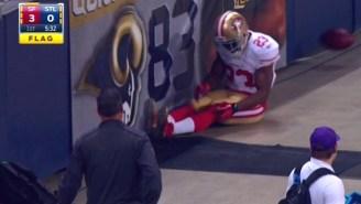 Reggie Bush Suffered A Bizarre Knee Injury On A Concrete Strip In St. Louis