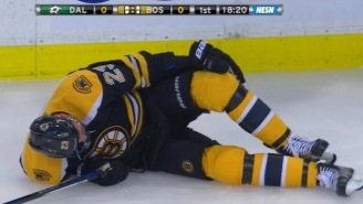 Bruins Forward Chris Kelly Suffered A Fractured Femur On A Bizarre Non-Contact Play