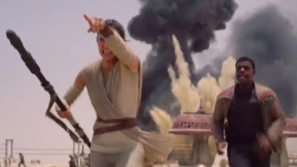 Finn and Rey run, panic in first 'Force Awakens' movie clip