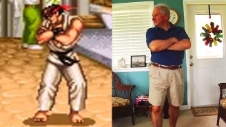 This Dorky Dad Reenacting Every 'Street Fighter II' Victory Pose Will Charm And Mortify You