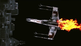 Watch An Awesome LEGO X-Wing, TIE Fighter And AT-AT Get Destroyed in Glorious Slow Motion