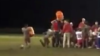 This Youth Football Player's Gatorade Bath Attempt Did Not Go As Planned