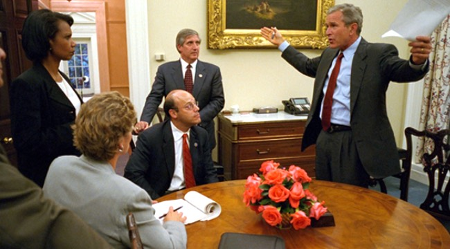 Bush Administration Deals with Terror Attacks on U.S
