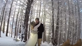 A Couple's Dog Captured Their Beautiful, Snowy Wedding On A GoPro