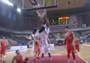 Former No. 1 Pick Greg Oden Was Dominant During His First Game In China This Weekend