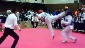 Watch A Guy Get Knocked Into Oblivion With This Crazy Tornado Kick
