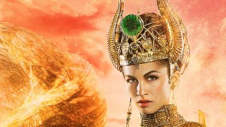 Exclusive: Hathor is a golden goddess of love and (snake) death in 'Gods of Egypt' poster