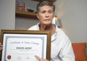 David Hasselhoff Releases Bizarre Video Statement Saying He's Changed His Name To 'David Hoff'