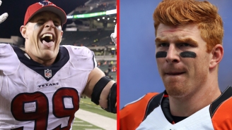 J.J. Watt Talked Trash About Andy Dalton, And The Bengals QB Was Pretty Upset About It