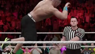 Watch John Cena Get Raptured Away In This Clip From 'WWE 2K16'
