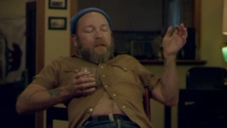 A 'Belchy' Kyle Kinane Covers The Space Race On 'Drunk History'