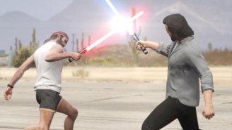 'GTA V' Travels To A Galaxy Far, Far Away For This 'Star Wars' Lightsaber Battle