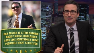 'Last Week Tonight' takes on the Washington football team (again)