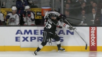 Brandon Dubinsky Narrowly Avoided Injury After A Terrifying Check Into The Glass