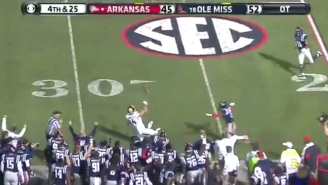 Arkansas Used An Insane Lateral To Convert One Of The Wildest Plays This College Football Season