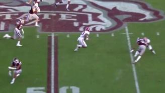 A Sick Juke And A Brutal Block Helped Alabama's Calvin Ridley Score A 60-Yard Touchdown