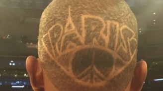 Knicks Forward Kevin Seraphin Shaved 'PARIS' Into His Hair For Sunday's Game
