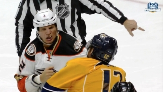 Watch A Tooth Go Flying After An Anaheim Ducks Player Took A Brutal Punch To The Face