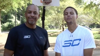 See Steph Curry Ruthlessly Dominate His Dad In A Game Of H-O-R-S-E